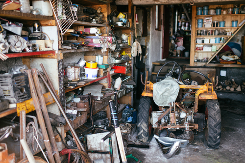 Garage in need of a clean out.  Full of Junk for removal.  Pasadena Maryland